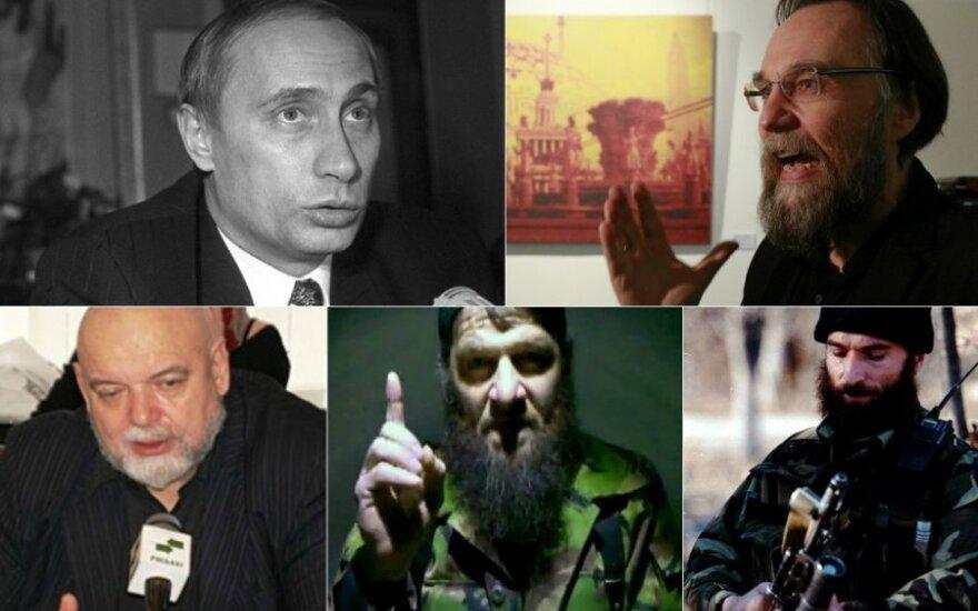 V.Putinas, A.Duginas, H.Džemalis, D.Umarovas ir Š.Basajevas