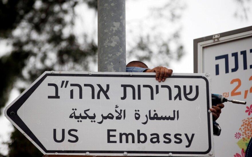 Izraelis aikštę prie naujosios JAV ambasados Jeruzalėje pavadins Trumpo vardu