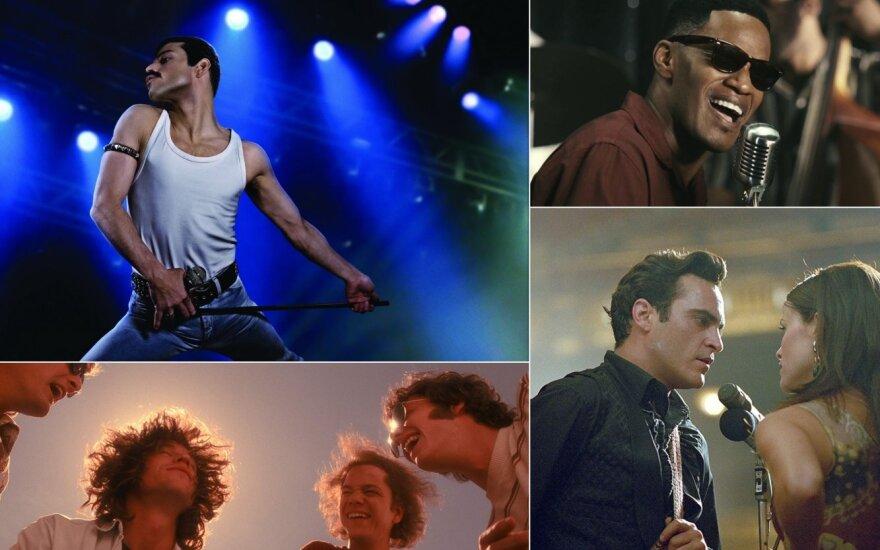 Kadrai iš muzikinių biografinių filmų
