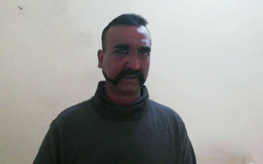 Pakistano sučiuptas Indijos pilotas