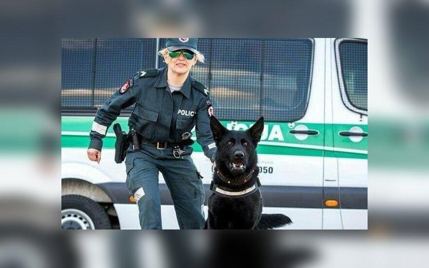 Policijos šuo Voodoo išgelbėjo Alzheimerio liga sergančią moterį