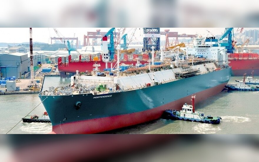 The Independence, the floating LNG storage unit