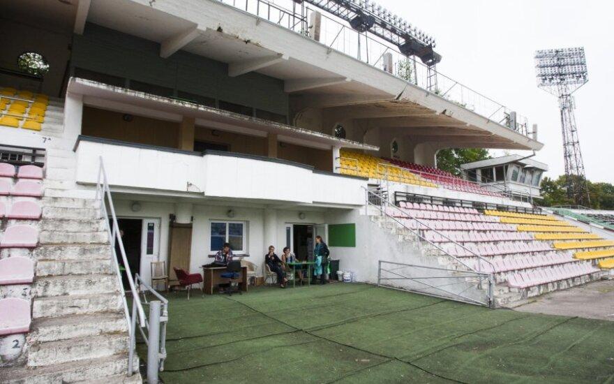 """Vilniaus """"Žalgirio"""" apgriuvęs stadionas"""