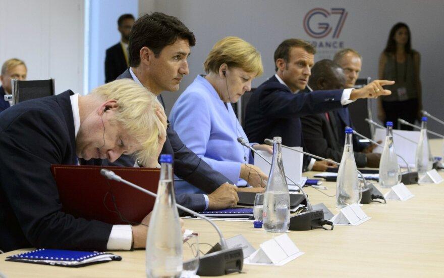 Borisas Johnsonas, Justinas Trudeau, Angela Merkel, Emmanuelis Macronas