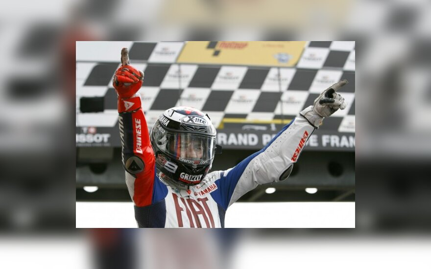 """MotoGP. Antra iš eilės J.Lorenzo """"pole"""" pozicija"""