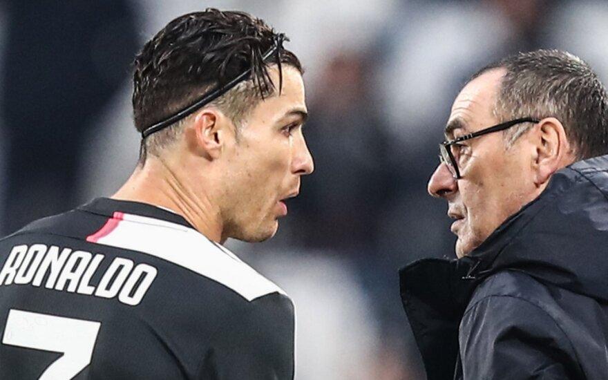 """Vaikų iš Liono išspirto """"Juventus"""" treneris bedė pirštu į Čempionų lygos formatą: turėtume būti pirmi arba antri"""
