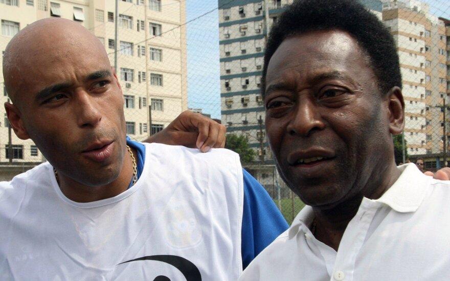 Edinho su tėvu Pele