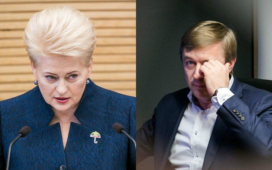 """Karbauskis parašė Grybauskaitei, prabilusiai apie """"viršūnes"""" ir """"apačias"""""""