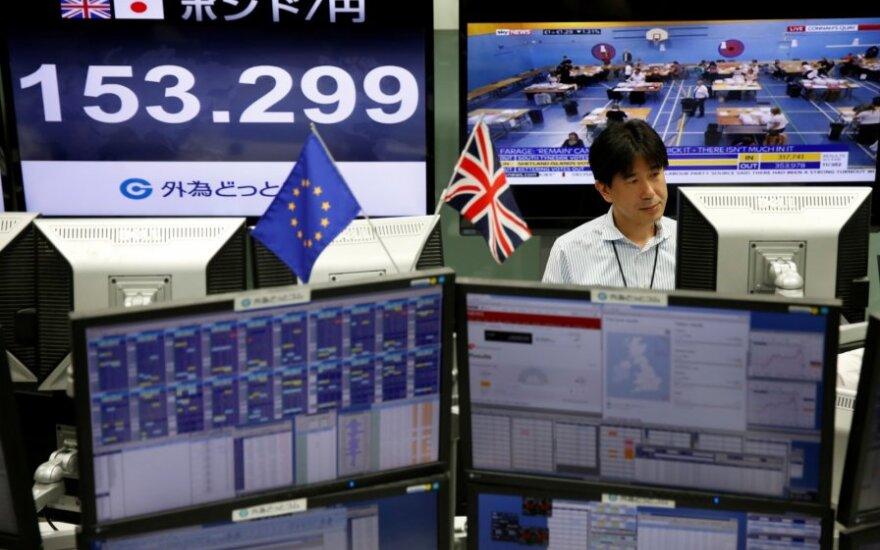 Biržos reaguoja į D. Britanijos referendumo rezultatus
