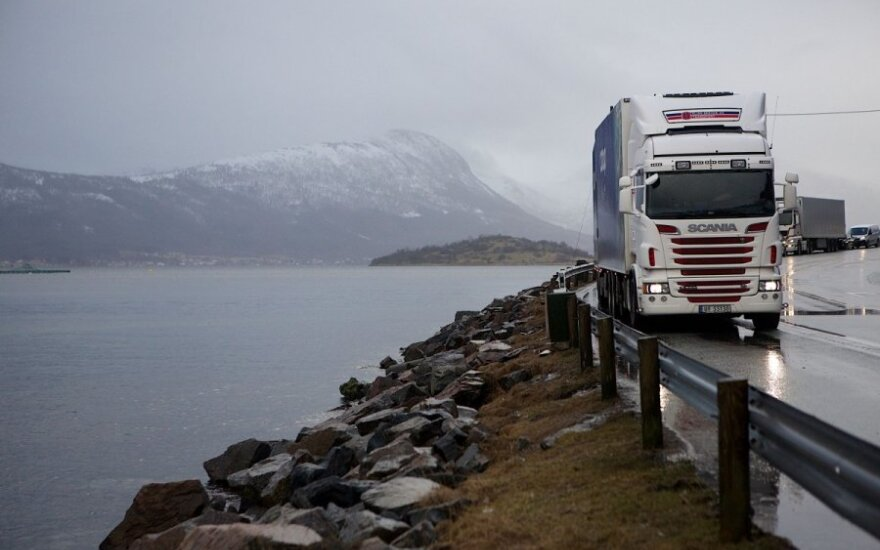 Norvegijoje – prievolė mokėti vairuotojams minimalų valandinį darbo užmokestį
