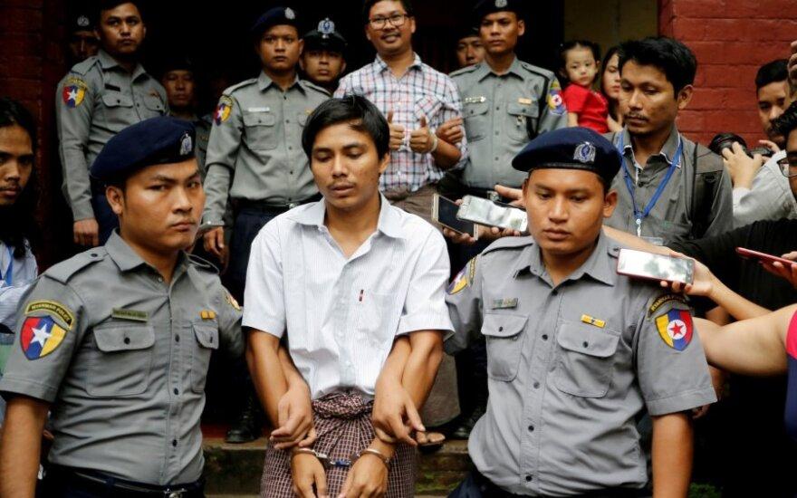 """Mianmare atmesta dviejų """"Reuters"""" žurnalistų apeliacija dėl 7 metų įkalinimo bausmės"""