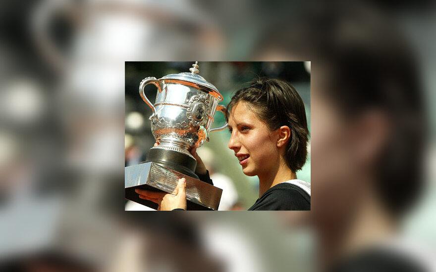 """""""French Open"""" čempionė A.Myskina"""
