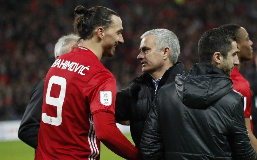 Zlatanas Ibrahimovičius ir Jose Mourinho
