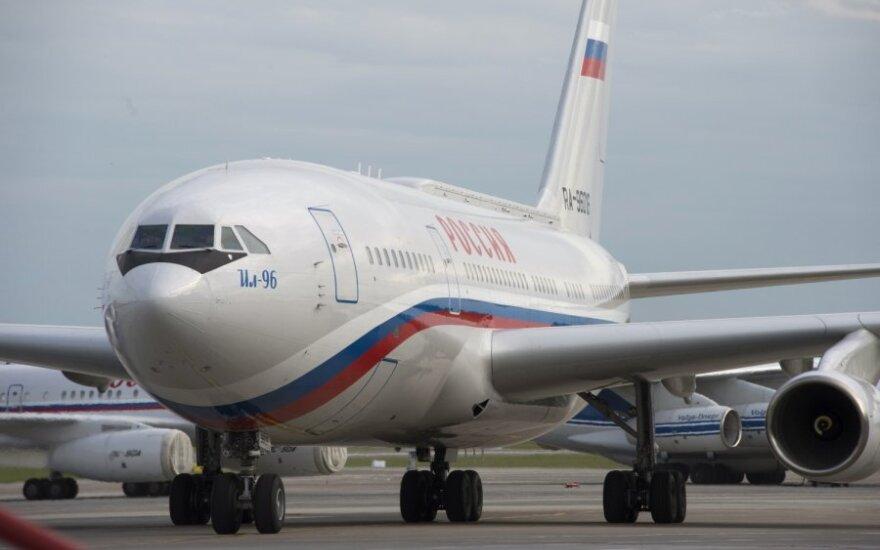 """Prezidentinis V.Putino lėktuvas """"Il-96"""""""