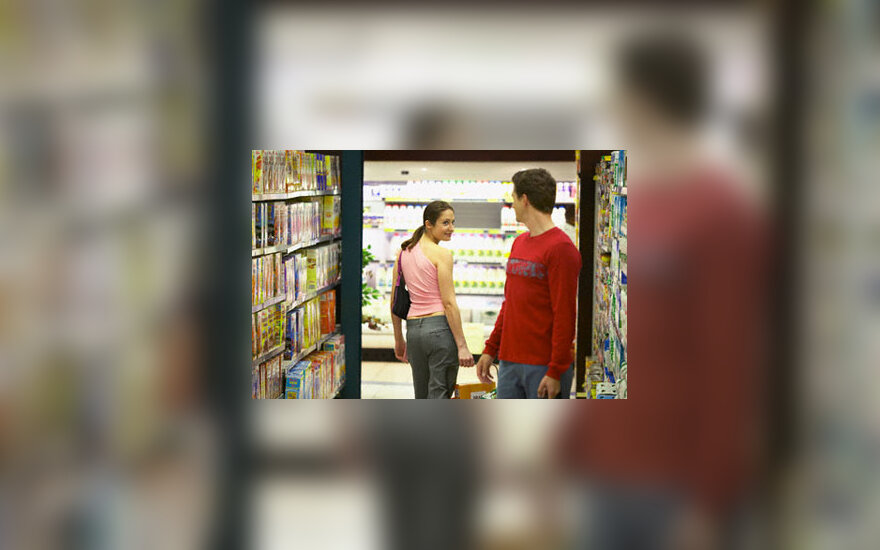 Flirtas parduotuvėje