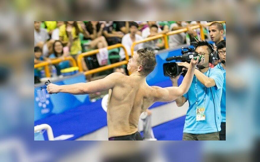 D. Rapšys universiadoje iškovojo antrą aukso medalį