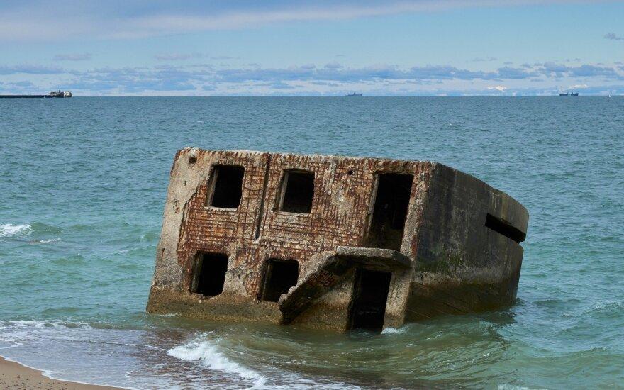 Senas karinis fortas Baltijos jūroje