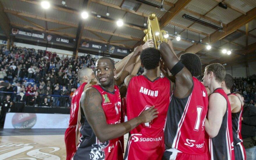 """""""Chalon"""" krepšininkai iškovojo Prancūzijos taurę"""