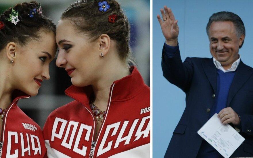 Rusijos gimnastės, Vitalijus Mutko (APTOPIX-Scanpix, Sputnik-Scanpix nuotr.)