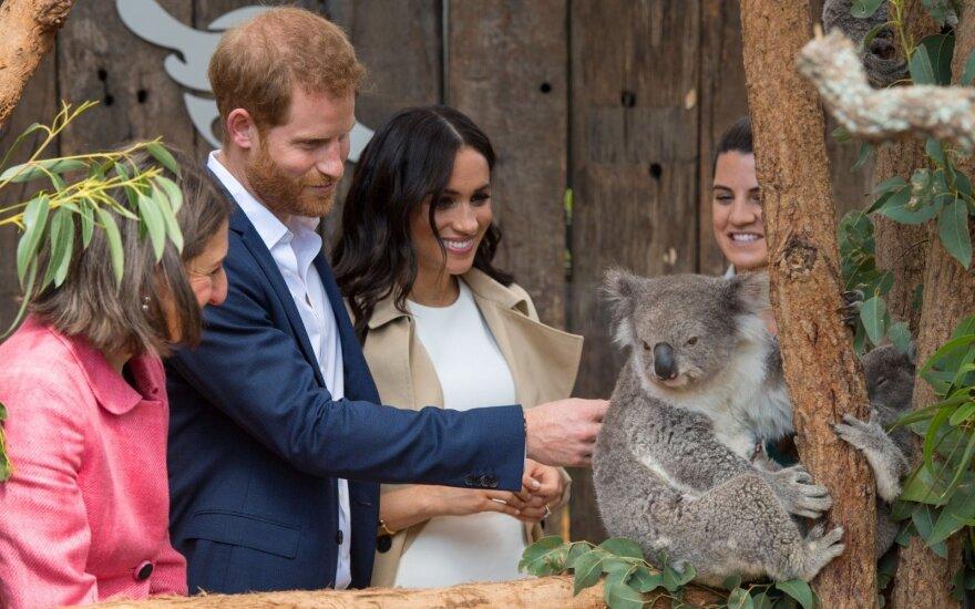 Meghan Markle ir princas Harry Australijoje