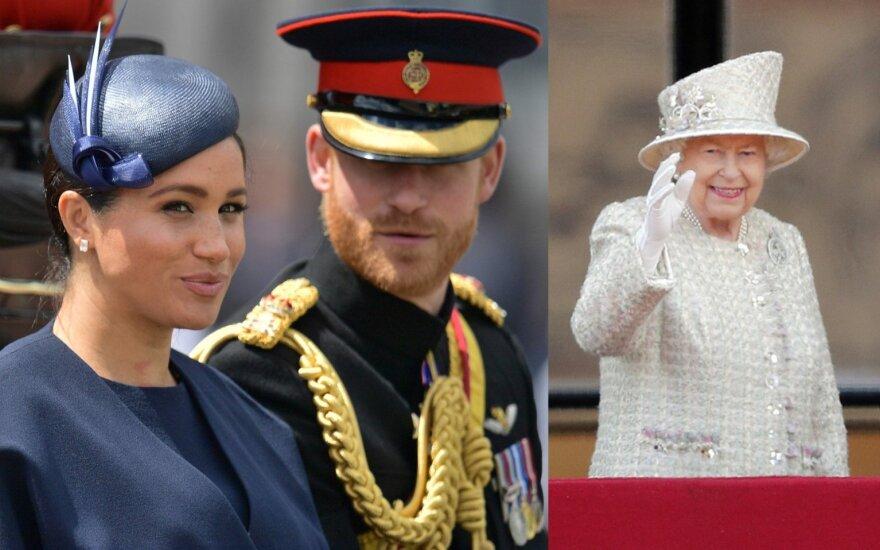 Princas Harry, Meghan Markle, karalienė Elizabeth II