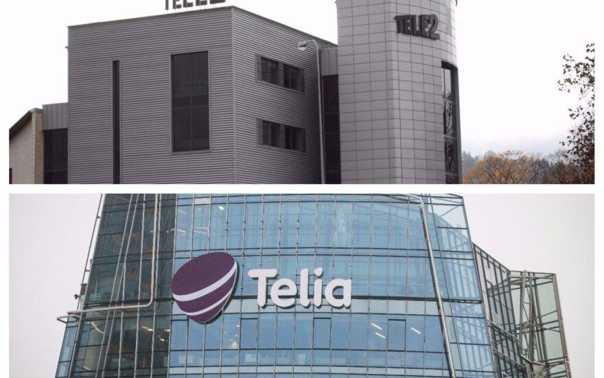 """""""Telia Lietuva"""" Konkurencijos tarybai skundžia """"Tele2"""" reklamą"""