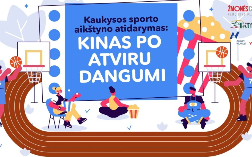 Vilnius atveria naują sporto aikštyną Paplaujoje: kviečiame atidaryme stebėti kino filmą