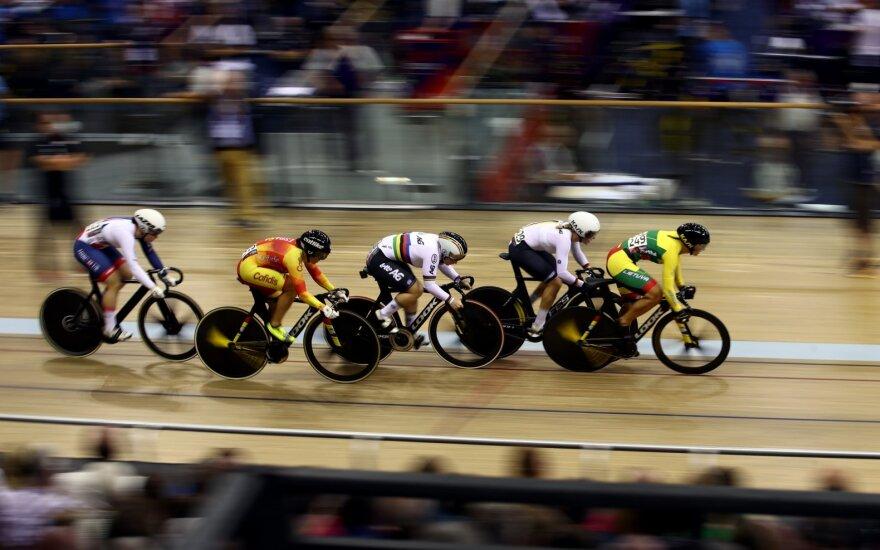 Lietuvos treko dviratininkai Honkonge – toli nuo lyderių