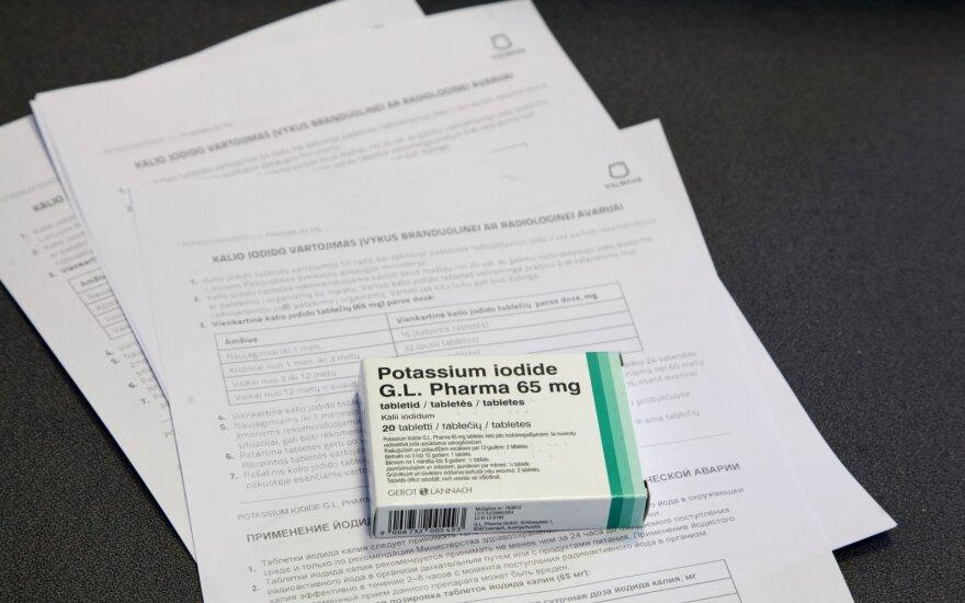Sostinėje pradėtos dalyti jodo tabletės: vilniečiai jas nemokamai gali atsiimti vaistinėse
