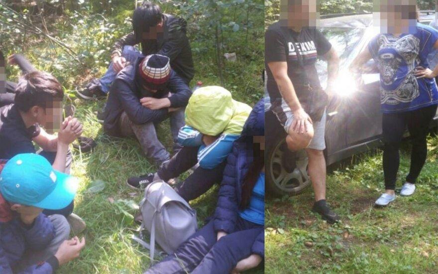 Lietuvos ir Latvijos pasieniečiai sulaikė vietnamiečių migrantų grupę