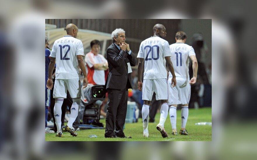 Raymondas Domenechas ir Prancūzijos futbolininkai