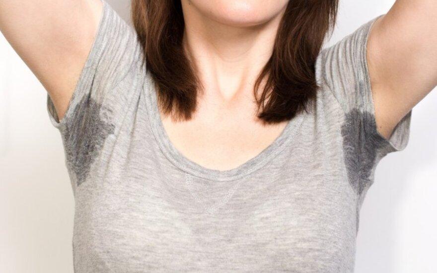 Stiprus prakaitavimas ir aštrus kvapas gali pranašauti ligą