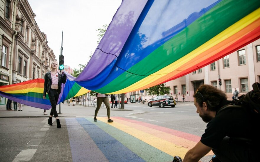 Vilnius opens rainbow crosswalk to mark LGBT rights