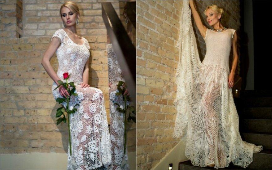 Būsimoms nuotakoms pristatyta rankų darbo vestuvinių suknelių kolekcija
