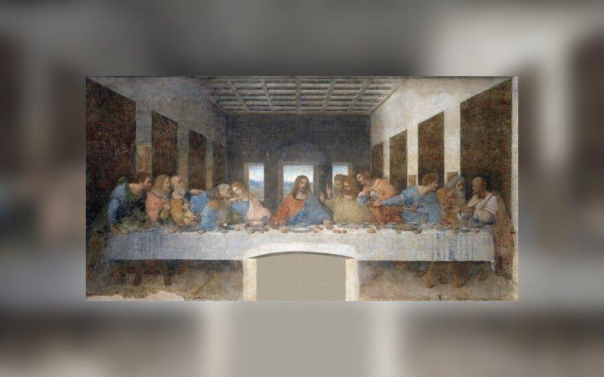 """Leonardo da Vinci, """"Paskutinė vakarienė"""" (Šv. Marijos Maloningosios bažnyčia, Milanas)"""