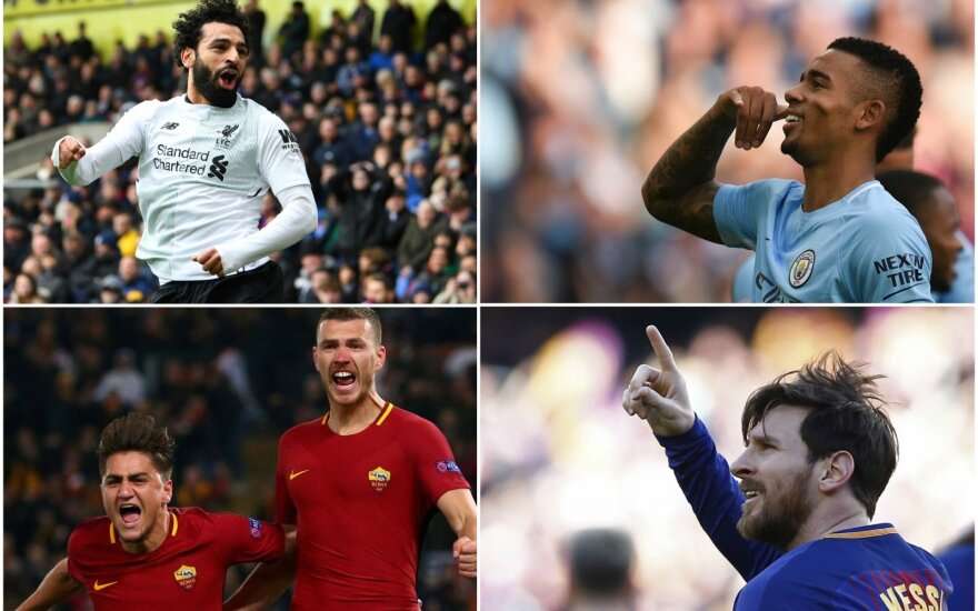 Mohamedas Salah, Gabrielis Jesusas, Edinas Džeko, Cengizas Underas  ir Lionelis Messi