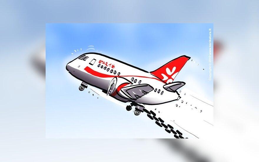 """Dėl neįvykusių """"Star1 Airlines"""" skrydžių – į banką"""