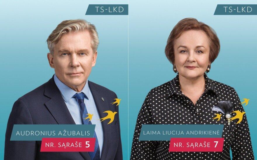Audronius Ažubalis ir Laima Andrikienė