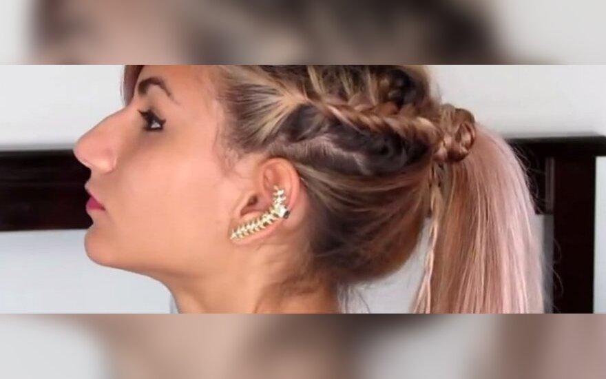 Šventinė šukuosena ilgaplaukėms per 5 minutes