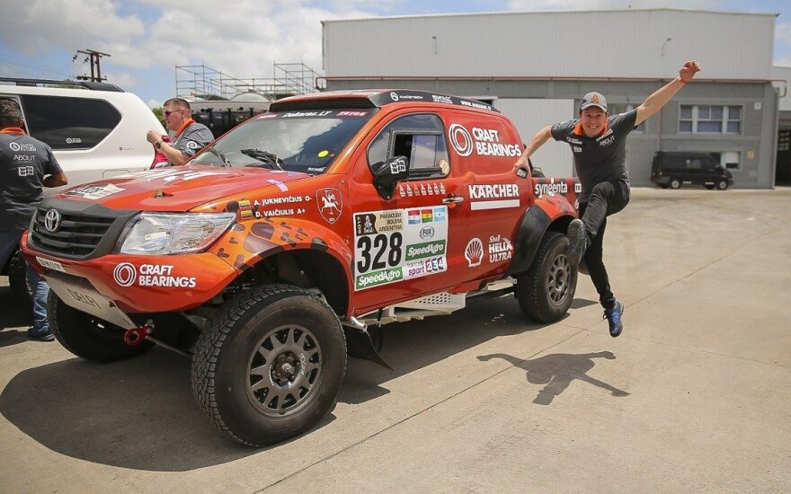 A. Juknevičius atsiėmė Dakaro techniką