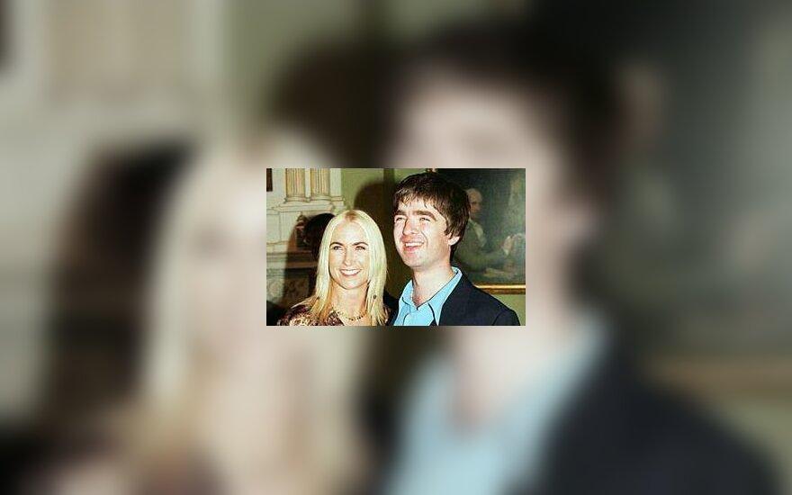 Noelis Gallagheris su žmona