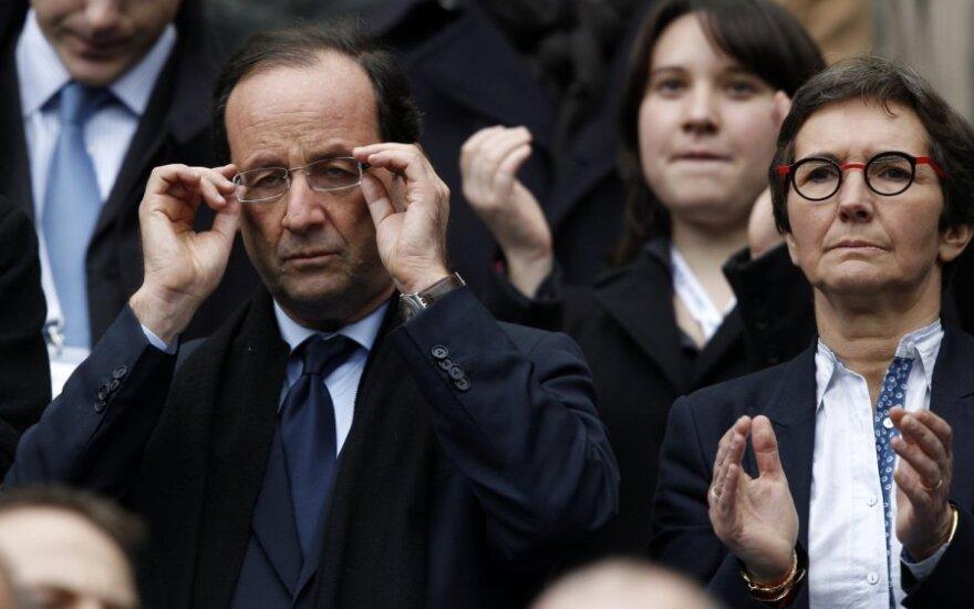 Francois Hollande'as ir Valerie Fourneyron