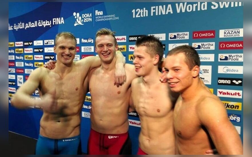 Lietuvos vyrų plaukimo rinktinė (ltuswimming.com nuotr.)