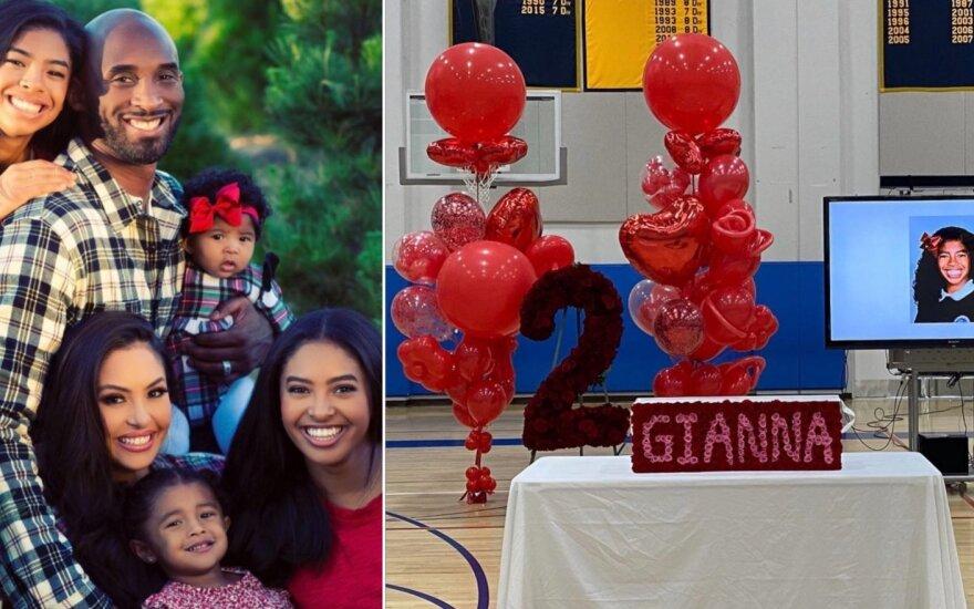 Kobe Bryanto šeima ir atsisveikinimas su Gianna
