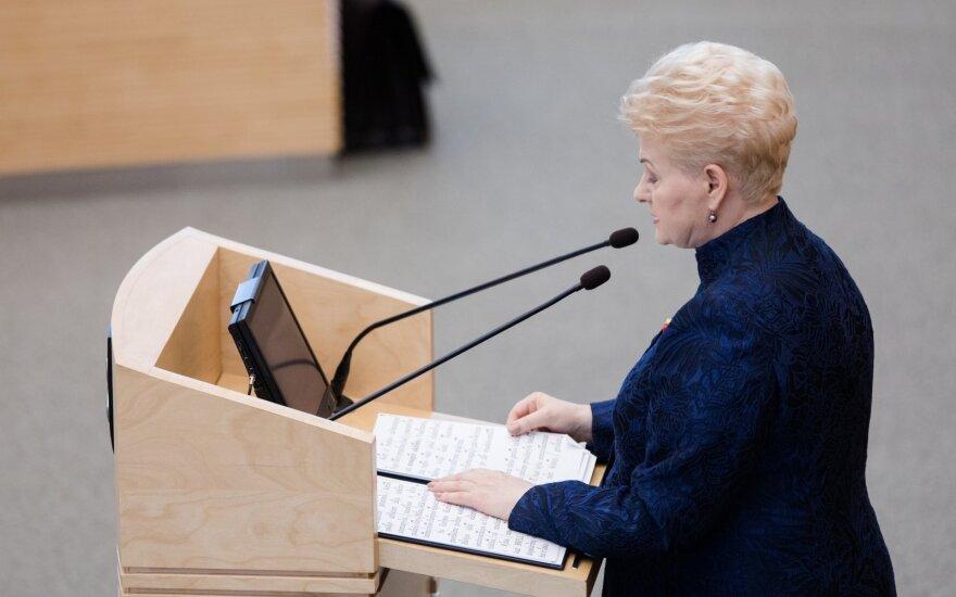 ES postų dalybų maratone – svarbus Grybauskaitės perspėjimas