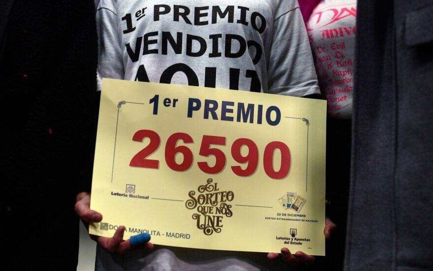Ispanijoje per kalėdinę loteriją išdalinta 2,24 mlrd. eurų