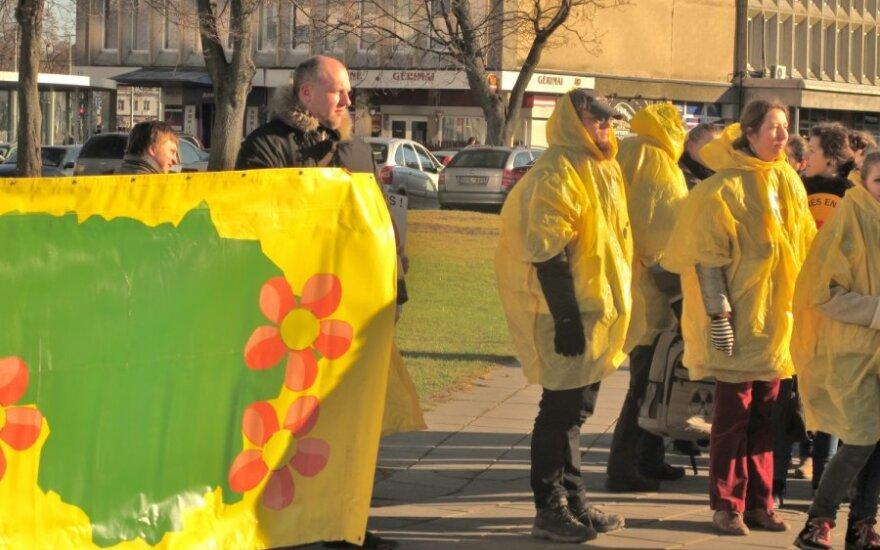Lietuvos žaliųjų sąjūdžio organizuotas piketas prieš atominę elektrinę