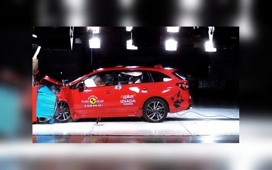 """""""Subaru Levorg"""" gavo maksimalų """"Euro NCAP"""" įvertinimą"""