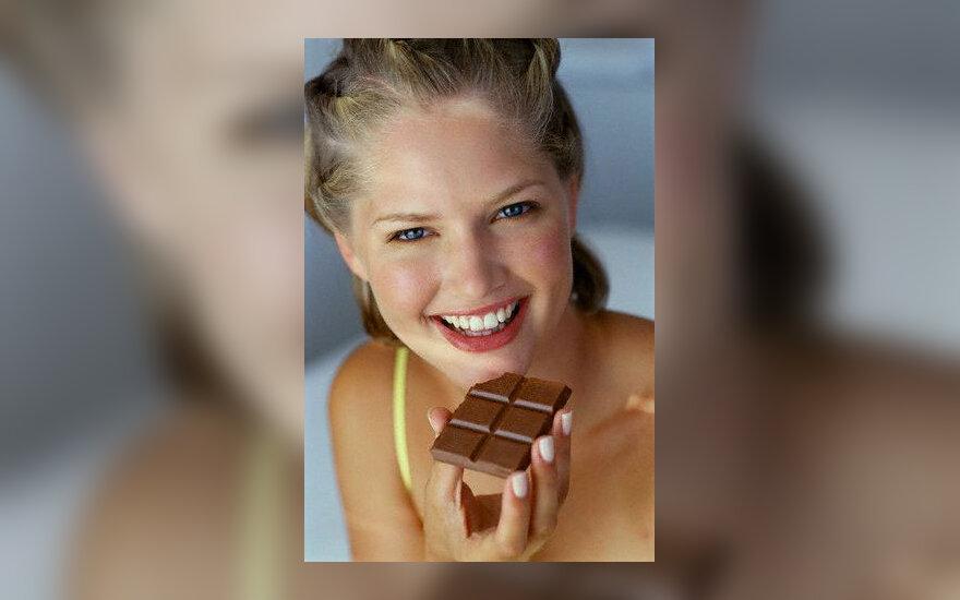 Mityba, šokoladas, nuotaika