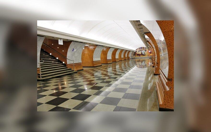 Viena įspūdingiausiai atrodančių, giliausia Maskvos metro stotis - Pergalės parkas